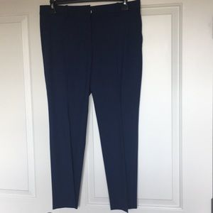 Skinny Theory trousers with a cropped silhouette.